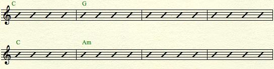 C major - 2 chords