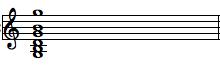 Gmaj open chord staff