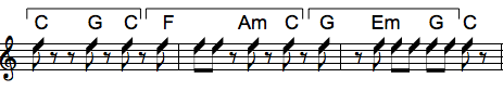 rhythm chunk with brackets chords