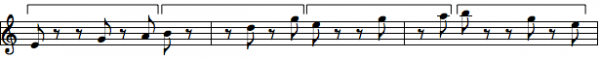 rhythm chunk with brakets solo