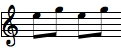 para - two notes alternating