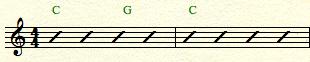 chord on beat 1