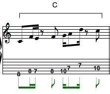 c non chord tones rhythm